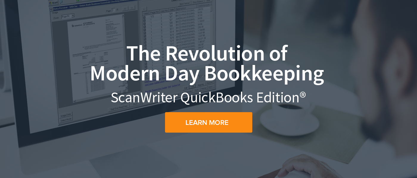 Automate any financial statement to QuickBooks | ScanWriter